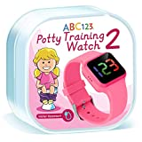 ABC123 Potty Training Watch 2- Baby Reminder Water Resistant Timer for Toilet Training Kids & Toddler (Pink)