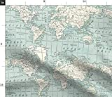 Landkarten, Grau, Schummler Stoff, Schummler Stoff,