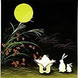 彩時記 綿小風呂敷(ふろしき) お月見 中巾(50cm幅)