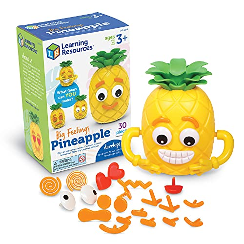 Learning Resources Big Feelings Pineapple, Social Emotional Toy, Creative Play, Body Awareness, Educational Toys for Toddlers, Ages 3+