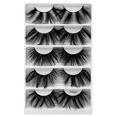 Générique Faux Cils Magnétique, 3D Cils Fausses Magnétiques sans Colle Cils Magnetique Naturel Sexy, 5 pcs Aimants Faux Cils Volume Russe Cils Magnetique Eyeliner Mascaras (K, Taille Unique)