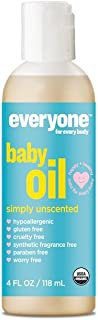 Everyone Soft Skin Organic Baby Oil with Natural Vitamin E and Olive Oil, 4oz, 6 Count