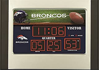 Team Sports America Denver Broncos Scoreboard Desk Alarm Clock