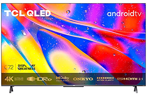 TCL 55C721, Smart Android TV 55 Pollici, QLED TV, 4K Ultra HD con Audio Onkyo