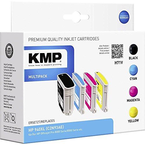 KMP Vorteilspack H71V - Druckerpatrone (ersetzt HP C4906AE, HP C4907AE, HP C4908AE, HP C4909AE) - Größe XL