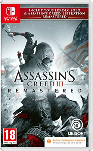 Assassin's creed 3 + assassin's creed liberation remaster switch code in box