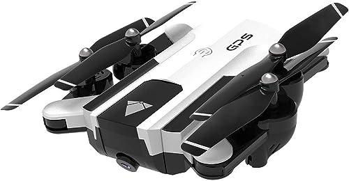 Qomomont Faltbares Selfie Brummen SG900-S mit 2.4GHz 720P   1080P HD Kamera WiFi FPV GPS  lich festgelegter Punkt Quadcopter Fachmann Phasenbrummen (Weiß B-1080 P)