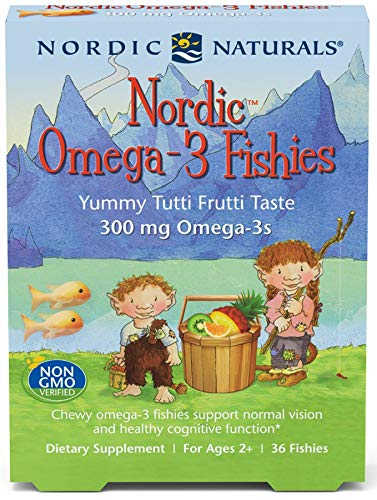 Nordic Naturals Omega 3 Fishies - Omega-3 Gummy With Essential Nutrients DHA and EPA to Support Optimal Brain, Immune Function and Cognitive Development, 36 Count