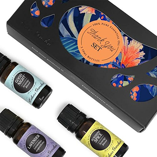 Edens Garden Thank You 3 Set, Best 100% Pure Essential Oil Aromatherapy Starter Kit (For Diffuser & Therapeutic Use), 10 ml