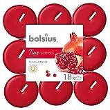 Bolsius True Scents Tealights Profumati e Colorati in PC-Cup, Cera, Rosso, Standard, 18 unità