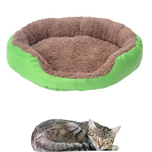 ppactvo Camas De Perros Colchon para Perros Cama para Perros De Felpa Cama CáLida para Perros CojíN para Perros Gran Despeje Lavable Nido para Mascotas para Perros Green,M