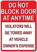 ヴィンテージの壁の装飾は違反者がけん引されるときはいつでもドアを塞がないでください1780ヴィンテージのブリキの壁サインレトロなアート鉄の絵金属の警告プラークの装飾カフェバースーパーマーケットカフェテリアホーム