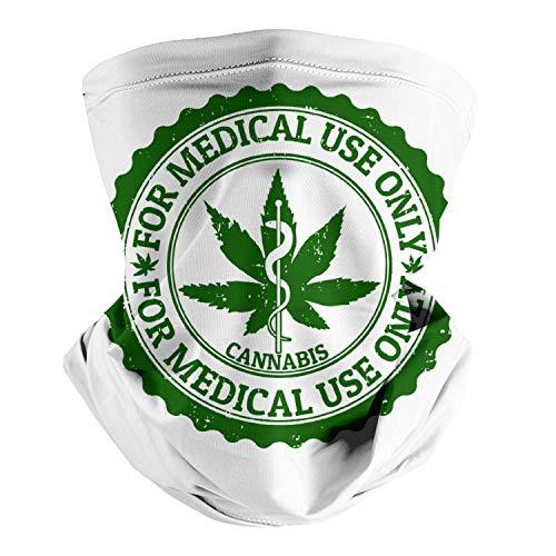 Medical Cannabis Medical Marijuana Card Physician Dispensary Cool Seamless Face Mask Headband Multifunctional Scarf Neck Gaiter Balaclava