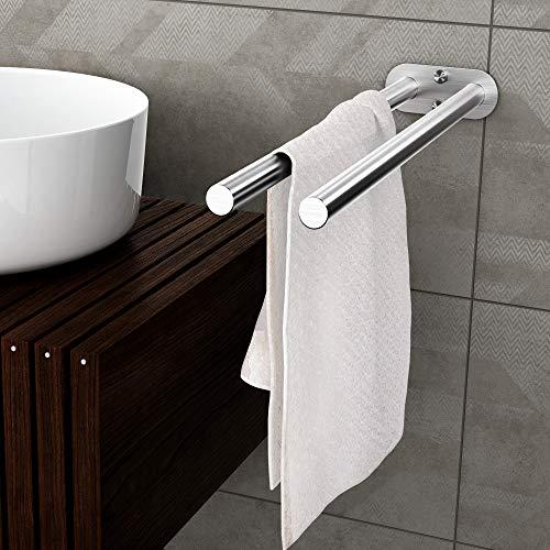 Dailyart Handtuchstange Zweiarmig Handtuchhalter Bad Edelstahl Gebürstet 40 cm Badetuchhalter Doppelt Wandmontage fr Badezimmer und Küche