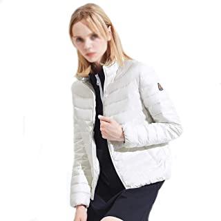 Warm Outerwear Women's Down Jacket Can Be Stored in The Collar, Regular Jacket, Portable Women's Winter Jacket Premium Insulation (Color : White, Size : XXXXL)