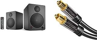 wavemaster Cube Mini NEO Black   Regallautsprecher System (36 Watt), schwarz & KabelDirekt – Optisches Kabel/Toslink Kabel – 1,5m (optisches Digitalkabel Toslink auf Toslink) – PRO Series