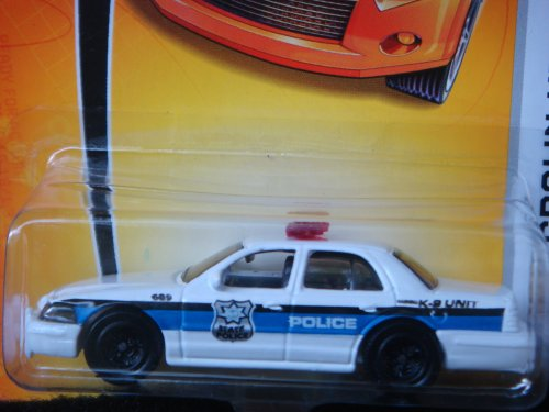 Matchbox Ford Crown Victoria White Police K-9 Unit Patrol Car #49 1/64 Factory Sealed.