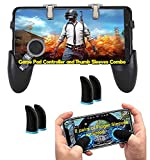 Insflug MOBILE 5 IN 1 PUBG GAME PAD:-it's to smart and good look and upgrade mobile game triggers are perfectly compatible with shooting in game. HIGHLY SENSITIVE : It's high sensitive triggers make it easy to the touch texture technology. It also do...