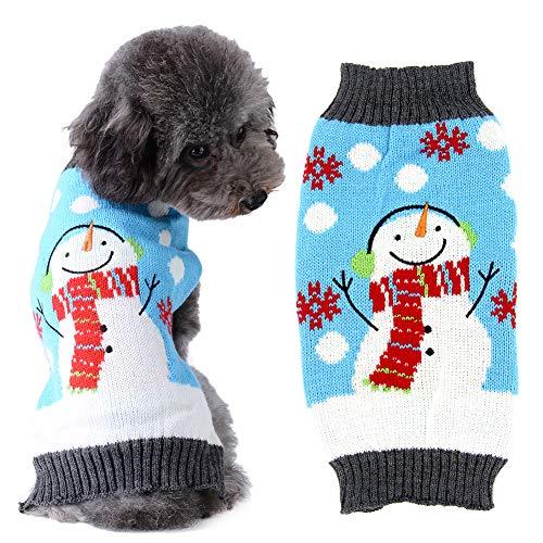 ABRRLO - Suéteres para Perros y Gatos, Ropa de Invierno cálida, Sudadera con Capucha para Mascotas