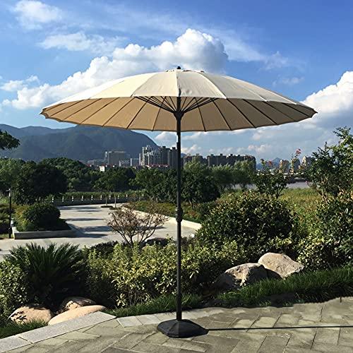 GAOYUN 2,7M Rundbogen Verstellbarer Terrassenschirm Sonnenschirm, Outdoor-Markt-Tischschirm Garten-Sonnenschirm, 16 Stabile Rippen