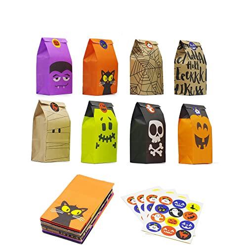 Bravo Sport Halloween Trick or Treat Goody Gags Gift Bags, 8 Design,...
