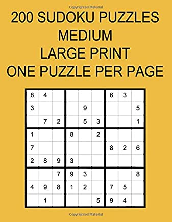 photo about Printable Sudoku 6 Per Page called 200 SUDOKU PUZZLES MEDIUM: Heavy PRINT 1 PUZZLE For each Website page