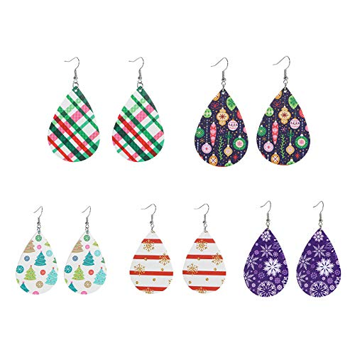 AQ89 5PC Women Christmas Hook Drop Dangle Earring Charm Eardrop Jewelry Xmas Party