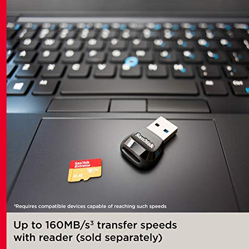 SanDisk Extreme 128 GB microSDXC Memory Card + SD Adapter