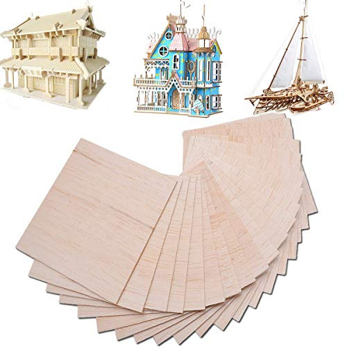 15 Stk. Balsaholz Platte Sperrholz für Haus Flugzeug Schiff Boot DIY Modell Laubsägeholz 150x100x2mm