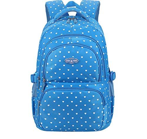 bbzzaa Schulrucksack für Mädchen im Teenageralter Kinder Schultaschen Kinder Babytaschen Orthopädischer Rucksack Laptop Reisetaschen für Teenager-Blau