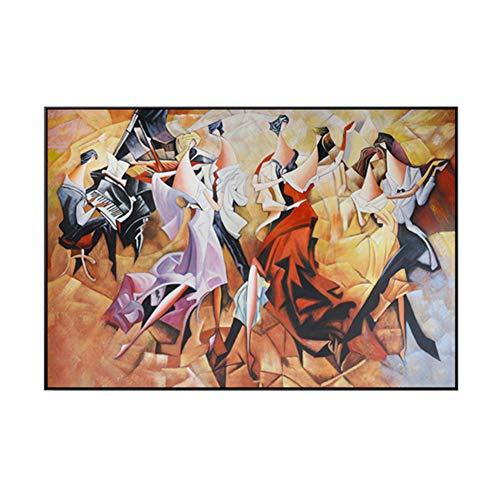 yhyxll Bankett Sexy Lady Party Karneval Klavier Leinwand Malerei Mittelalter Poster Für Wohnzimmer GangWohnkultur Wandkunst -60x90cm Kein Rahmen