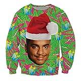 KSJK Unisex Funny Print Ugly Christmas Halloween Sweatshirts Jumper Hoodie NO4 XL