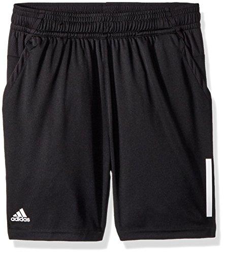 adidas Boys Youth Tennis 3 Stripes Club Short Black Small