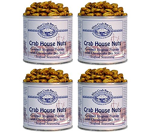 Blue Crab Bay Co. Crab House Nuts, 12-Ounce Packages (Pack of 4)