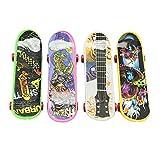 Pinzhi 4 Stk neue Mode Kunststoff Finger Skateboard Chirdren Kinder Spielzeug Geburtstagsgeschenk -