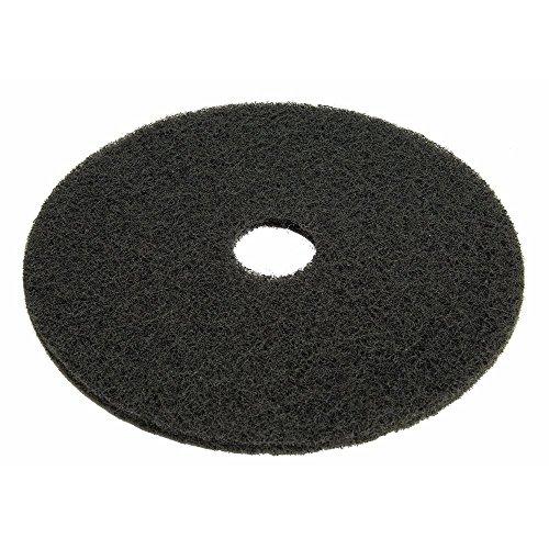 Best Deals! HUBERT Floor Cleaning Pad Black Plastic 20 Dia 5 Per Case