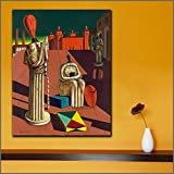 Geiqianjiumai Impresión Arte Pintura al óleo Sala de Estar Mural decoración del hogar perturbador paño Arte musa Pintura sin Marco 60X80CM