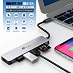 USB C Hub Multiport Adapter - 7 in 1 Portable Space Aluminum Dongle with 4K HDMI Output, 3 USB 3.0 Ports, SD/Micro SD… 10 Portable & Anti - overheat & plug and go - sleek compact with pocket size, 4. 5*1. 1*0. 4 in, Easy to set into your laptop sleeve, Bag or pocket. Premium space aluminum shell makes the USB C hub sturdy and durable, Also designed to prevent overheating, keeping you and Your devices secure. Plug and play, no software, drivers or complicated installation required. 7 in 1 design & massive expansion - 3 standard USB ports with 5Gbps transfer speed ensuring quick syncing and file sharing, 1 HDMI port with vivid 4K video output that transfers media in seconds with 3D effect, 2 SD card slots (one Micro SD) for superior data-storing versatility, and a USB - C power Delivery charging connector that makes the USB C adapter possible to connect any devices with USB - C ports —All possibilities in one hub. 4K HDMI Video Adapter for Stunning Pleasure - Extends your screen with the HDMI port and directly stream 4K UHD or Full HD 1080p video to HDTV, monitors, or projectors. FlePow USB C Hub brings you vivid 3D effect video sync. Perfect to stream a full HD movie on your HDTV; extend a 3D video game on your monitors or show your PPT through the projectors for office meetings.
