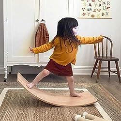 cheap Small Dove Wooden Balance Board Vibration Balance Board Toddler Toy Kids Yoga Board Early …