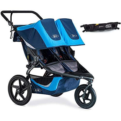 BOB Revolution Flex 3.0 Duallie Double Jogging Stroller with Handle Bar Console - Glacier Blue