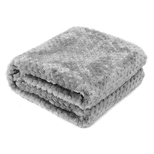 AcserGery Flauschige Hundedecke 100x120cm Super Softe Warme und Weiche Decke für Haustier Hundedecke Katzendecke (Grau)