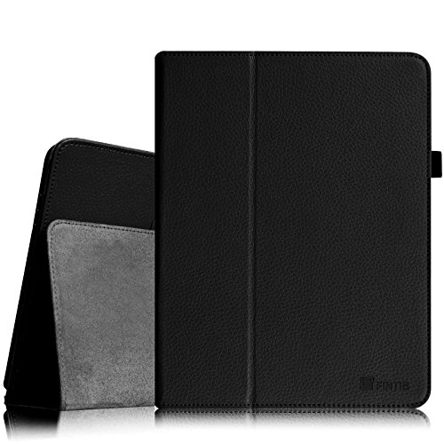 Fintie iPad 1 Folio Case - Slim Fit Vegan Leather Stand Cover with Stylus Holder for Apple iPad 1st Generation, Black