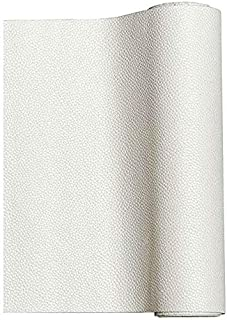 MeCan Faux Leather Fabric Sheet Solid PU Synthetic Leather Perfect for Earrings,Cricut,DIY Craft Projects,9''x53''(23x135cm) (White)