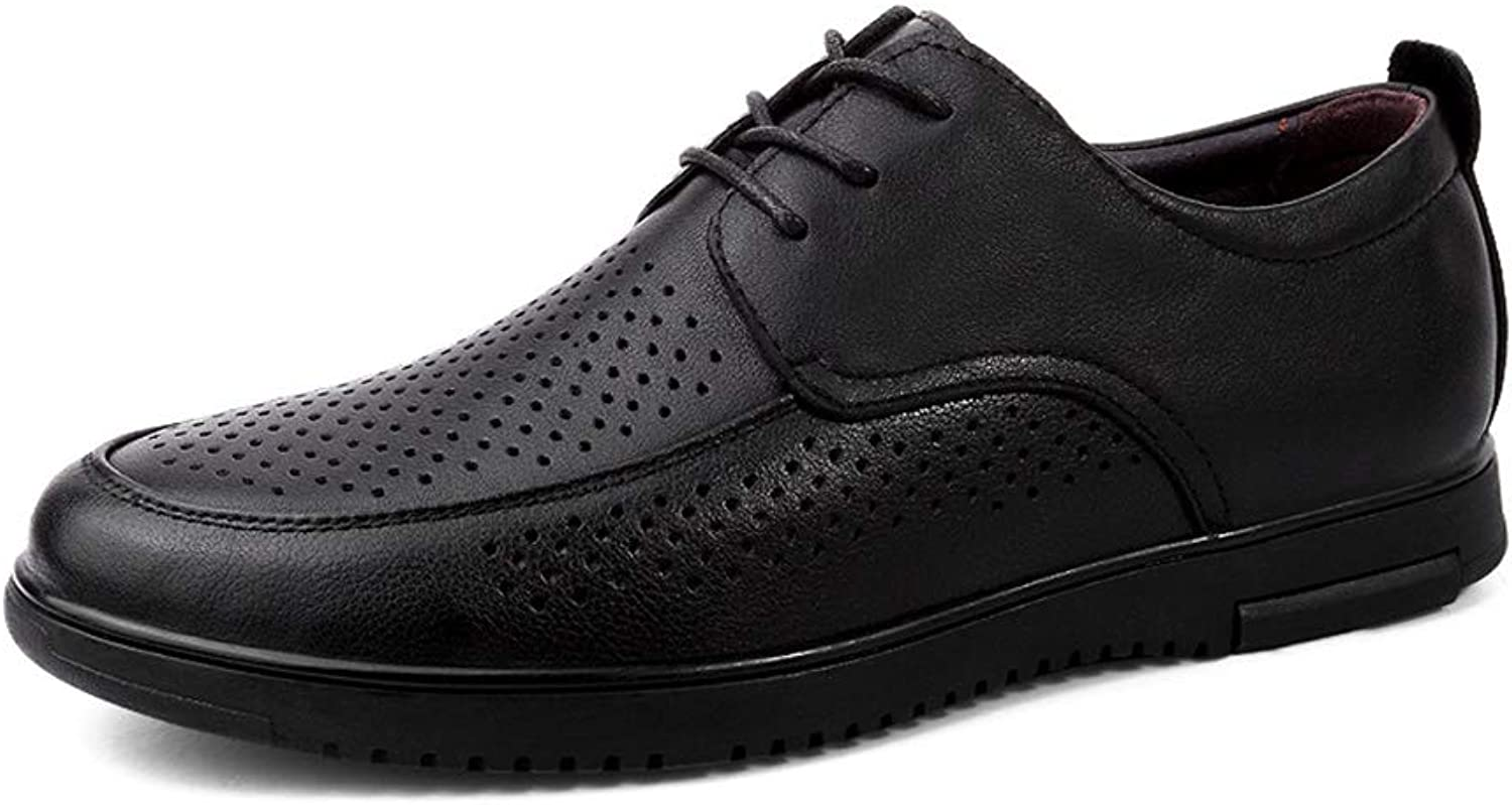 Men's Non-slip Casual shoes Breathable Front tie Hollow shoes British style Low help Business Tooling shoes