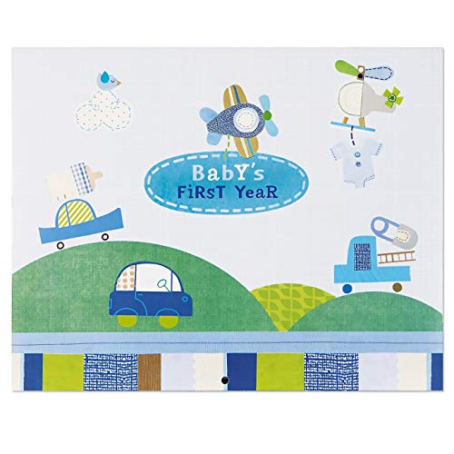 C.R. Gibson Blue Airplane First Year Baby Calendar for Boys, 11'' W x 18'' H
