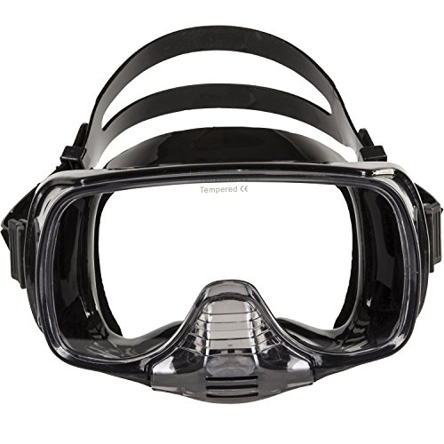 IST Imperial Panoramic View Hands-Free Water Mask (Black Silicone)
