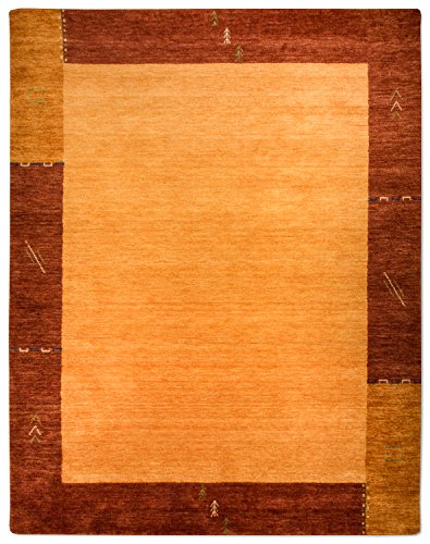 Morgenland Gabbeh tapijt modern 200 x 80 cm goud/bruin