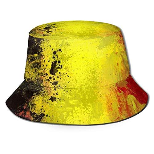 QUEMIN Sombrero de Pescador Bandera de Bélgica Unisex Sombreros de Cubo de Tapa Plana Sombrero para el Sol Gorra de Pescador