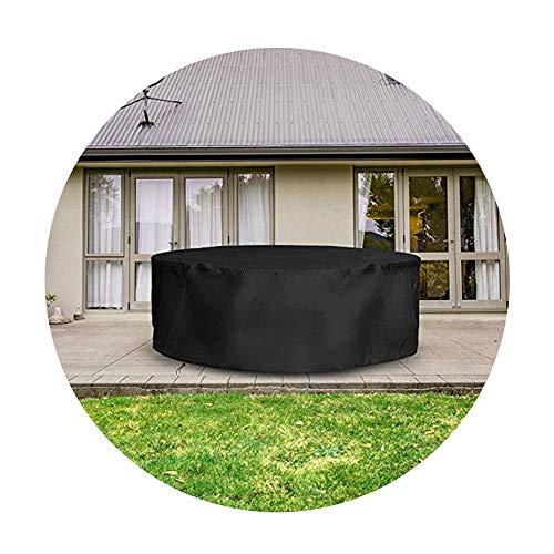 NINGWXQ Rotan meubelen Ronde Protection Presenning Scheurweerstand Ademende Koord Ontwerp winddicht Device, 25 Maten (Color : Black, Size : 220x90cm)