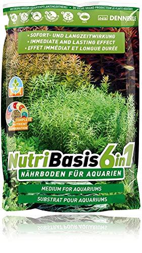 Dennerle NutriBasis 6 in 1 – Nährboden für Aquarien – für prächtigen Pflanzenwuchs 2,4 kg